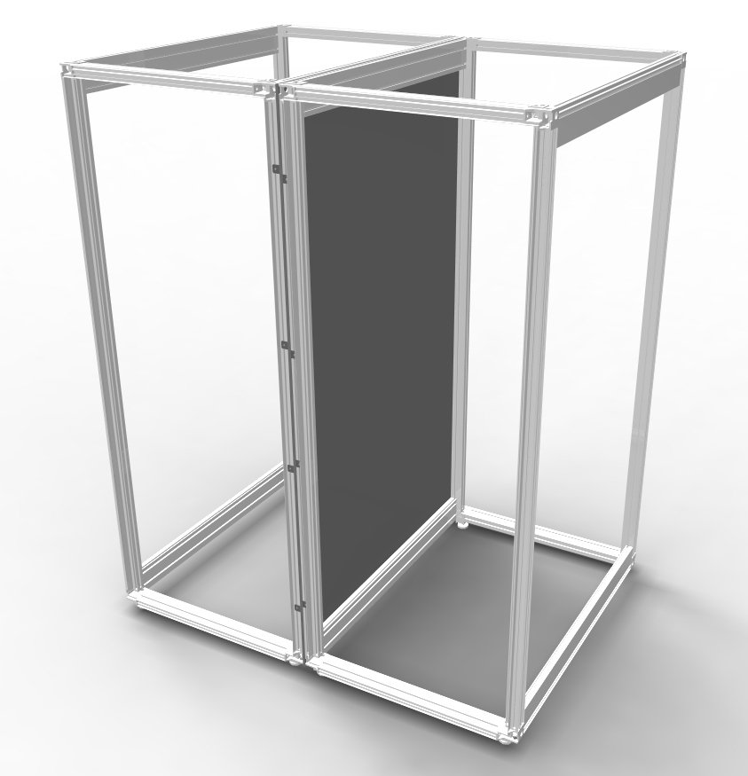 An image of Vertiv partition panel move knuerr dcm h2200 d1200 set
