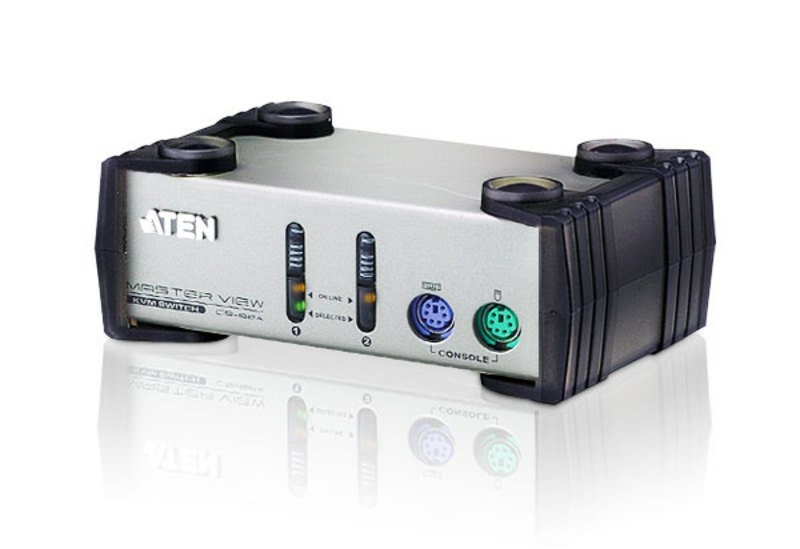 An image of Aten cs82a silver kvm switch
