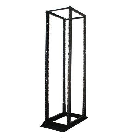 An image of Tripp lite 45u smartrack 4-post open frame rack cabinet square holes