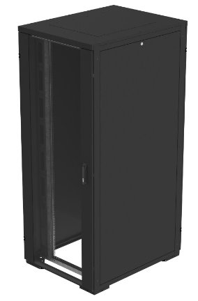 An image of Eaton nsr22606spb freestanding rack 22u 225kg black rack