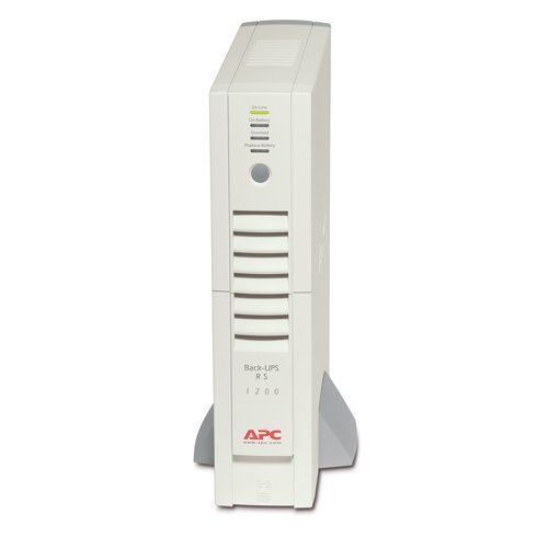 An image of APC back-ups rs 1200va beige uninterruptible power supply (ups)