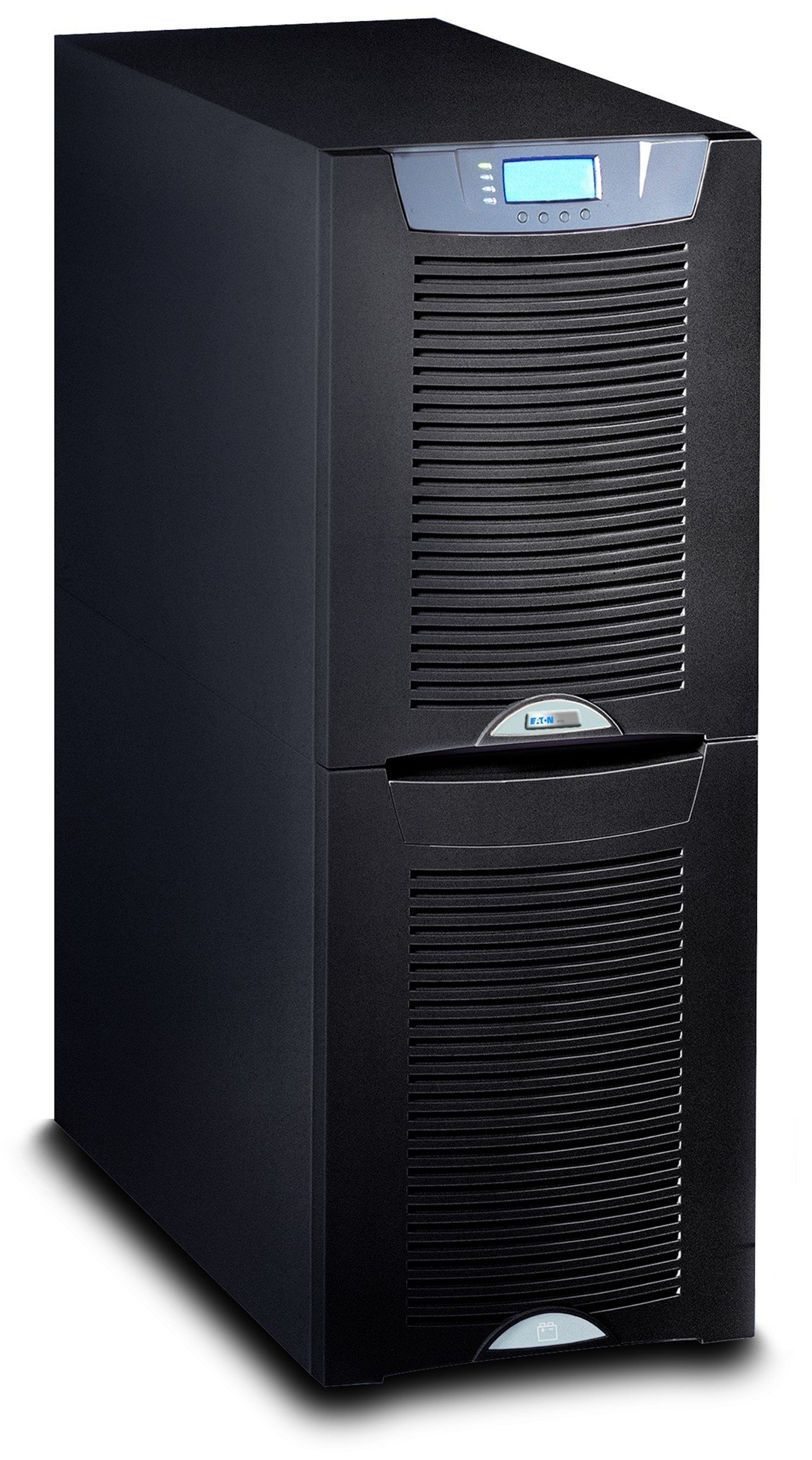 An image of Eaton powerware 9155-12-n-0-64x0ah-mbs 12000va tower black uninterruptible power...