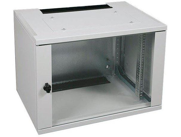 An image of Vertiv Avocent ConAct wall mounted rack 9u grey rack