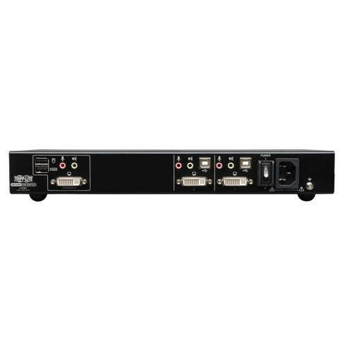 An image of Tripp lite 2-port secure kvm switch dvi / usb with audio niap-certified (eal 2+)