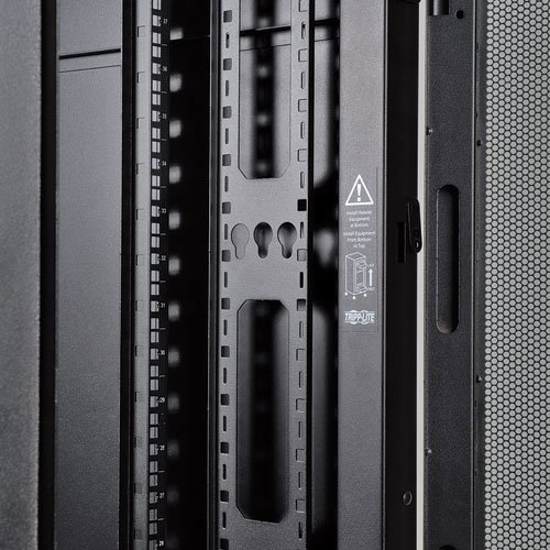 An image of Tripp lite 45u smartrack standard-depth server rack enclosure cabinet with doors...