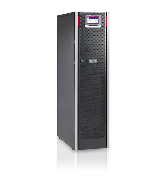 An image of Eaton 93ps-10(20)-15-2x7ah-ll-6 double-conversion (online) 10000va tower black u...