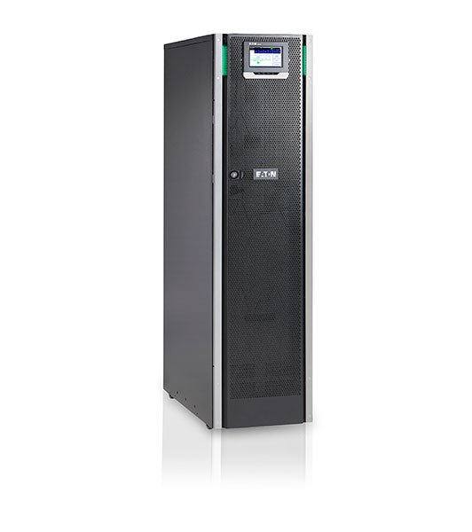 An image of Eaton 93ps-10(20)-15-2x7ah-ll-mbs-6 double-conversion (online) 10000va tower bla...