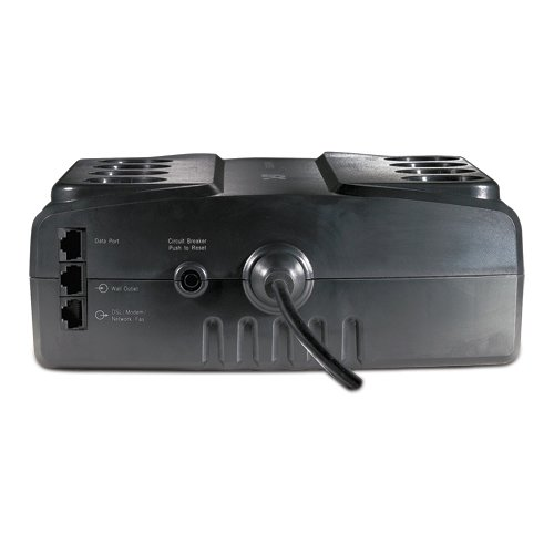 An image of APC be700g standby (offline) 700va black uninterruptible power supply (ups)