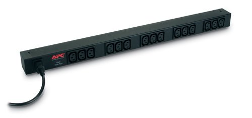 An image of APC rack PDU basic zero u 10a 230v power distribution unit (PDU) black