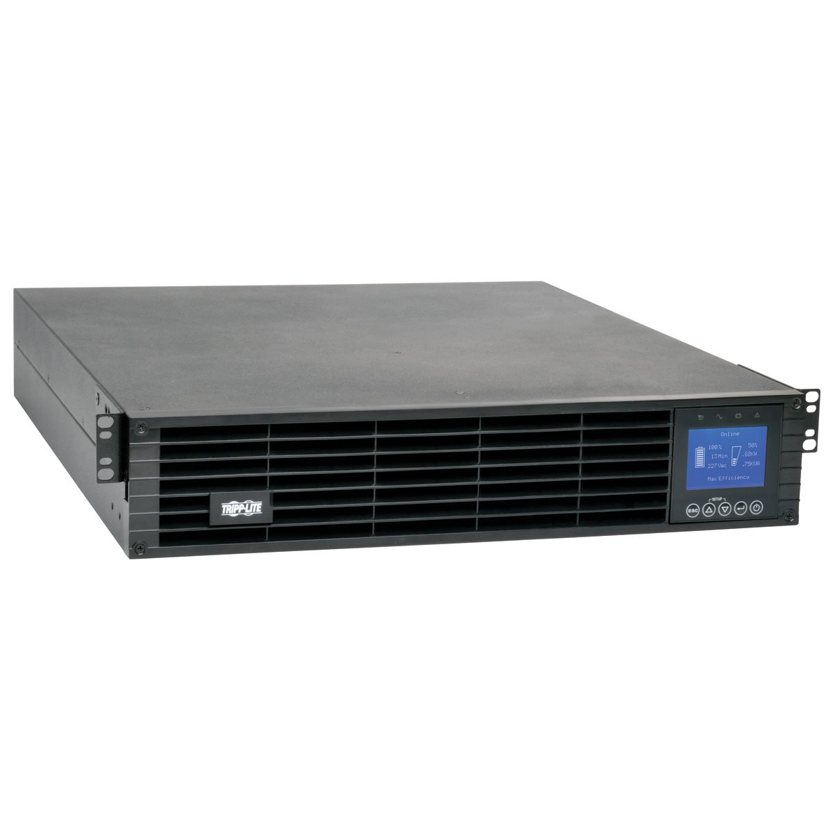An image of Tripp lite smartonline 1.5kva 1.35kw double-conversion ups, 208v / 230v, 2u, ext...