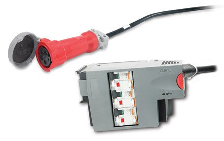 An image of APC 3 pole 5 wire rcd 16a 30ma iec309 power distribution unit (PDU)