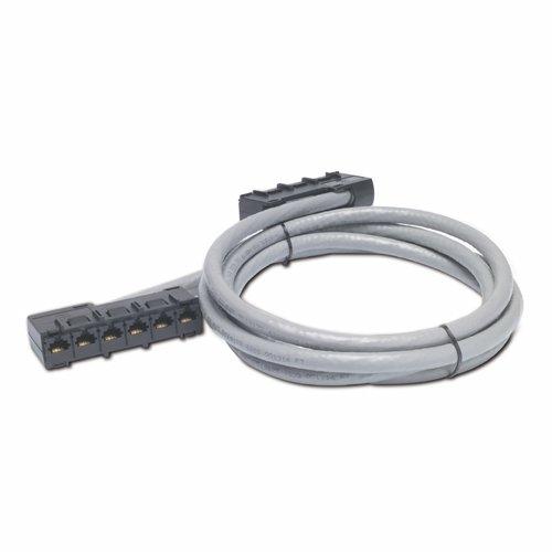 An image of APC 13ft cat5e utp, 6x rj-45 - 6x rj-45 networking cable 3.96 m u/utp (utp) grey