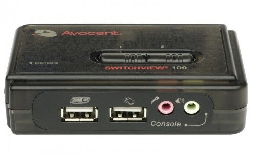 An image of Vertiv avocent switchview 100 series kvm switch black