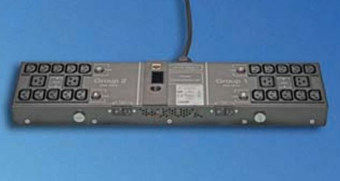 An image of Vertiv avocent 03.632.100.8 24ac outlet(s) black power distribution unit (pdu)
