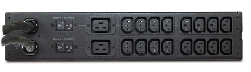 An image of APC Rack-mount transfer switches Rack ats, 2u 230v, 32a