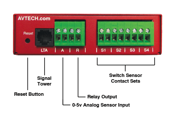 An image of Avtech room alert 12e monitor
