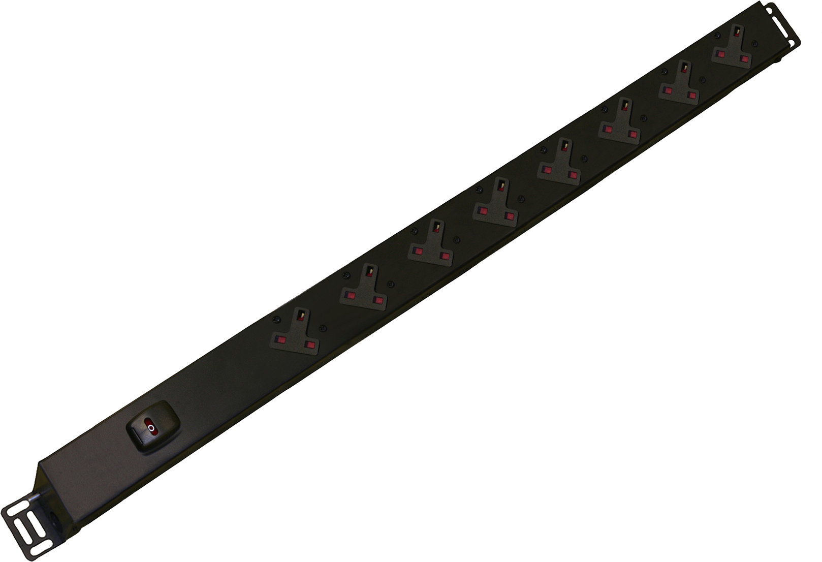 An image of 8 way vertical slimline PDU r/h c/w uk plug
