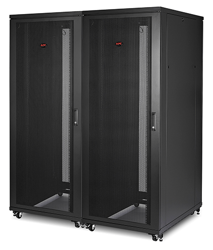An image of APC NetShelter SV 42U 800mm Wide x 1060mm Deep Enclosure with Sides Black