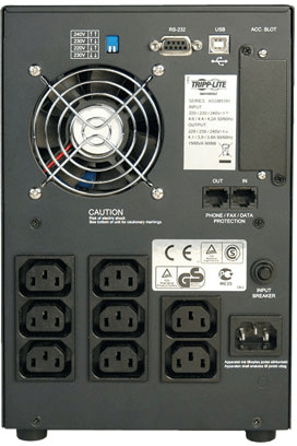 An image of Tripp Lite SmartPro 230V 1.05kVA 650W Line-Interactive Sine Wave UPS, Tower, Net...