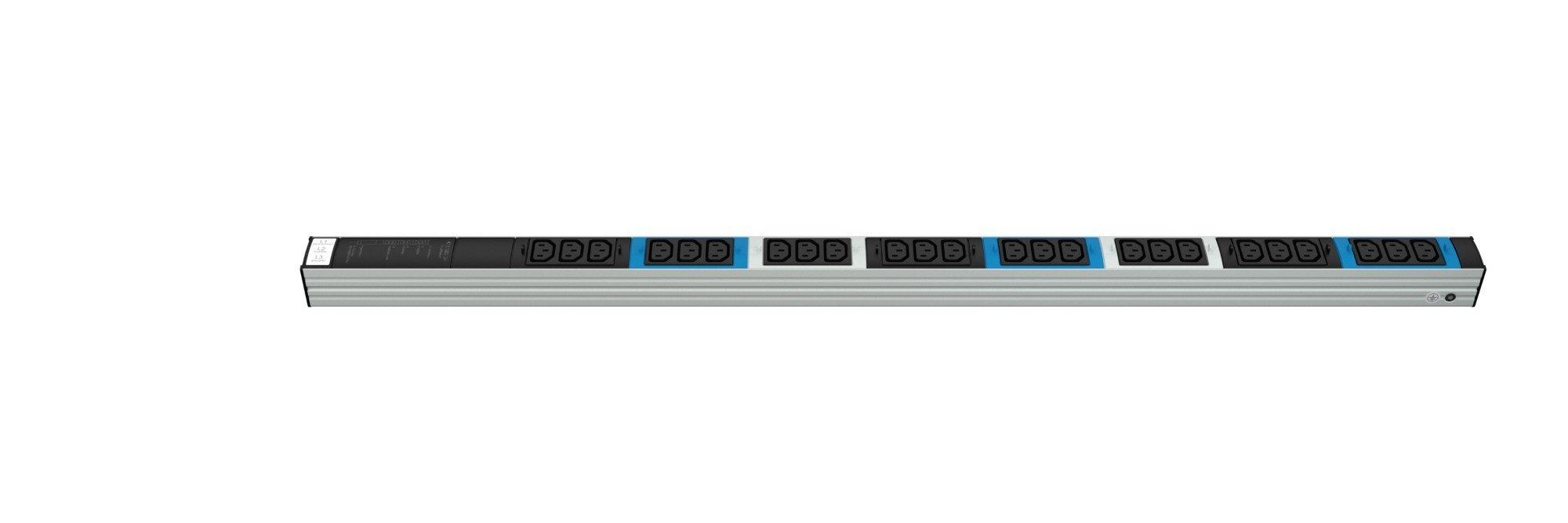 An image of Vertiv Knurr dis rack pdu, tripplepower, 0u, input ohne 230/400v 3x16a, outputs ...
