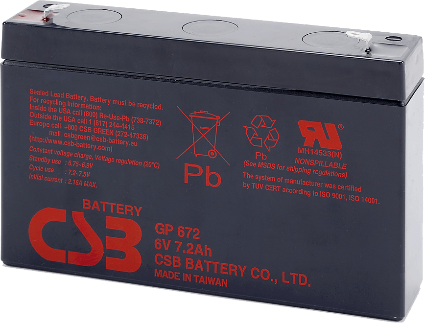 An image of CSB GP 6120 f2 12ah 6v Battery