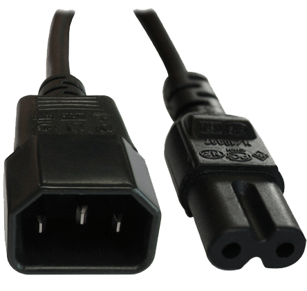 An image of Iec c14 plug - iec c7 (fig 8) socket