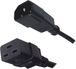 An image of Eaton Iec 10a/16a (iec c14 - iec c19) cable