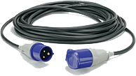 An image of 10meters of ho7 flexible cable commando 16amp socket + plug