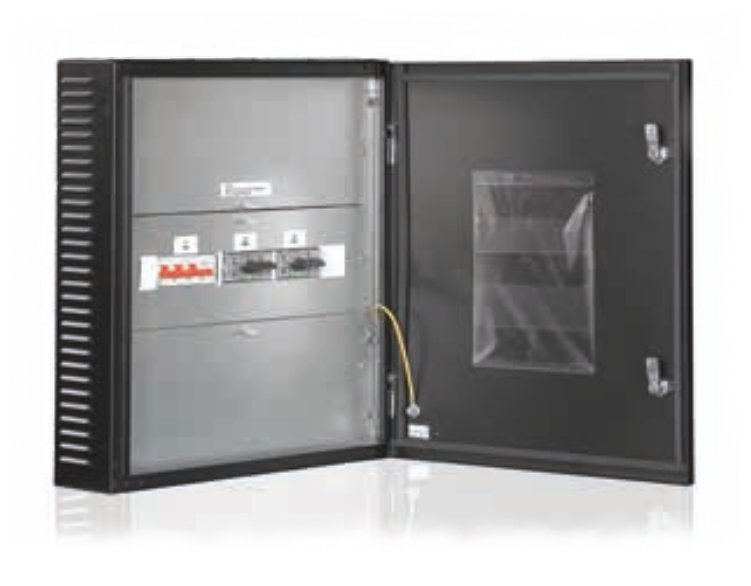 An image of Eaton external mbs 50kw with bib rackmount UPS battery cabinet