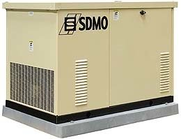 An image of SDMO res18ec 14kw residential generator
