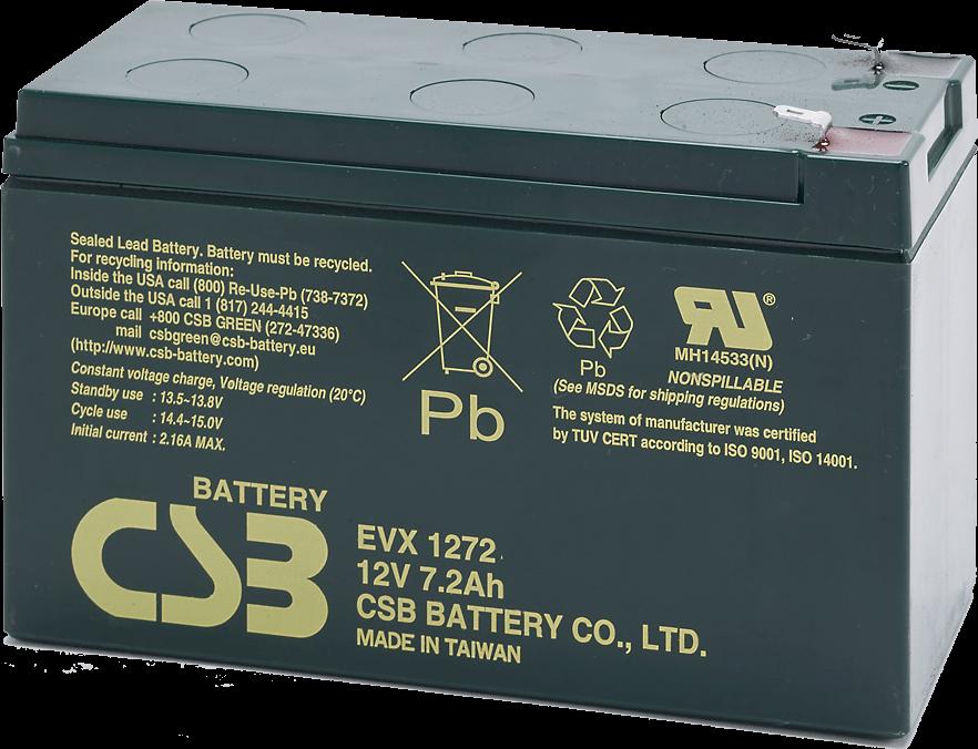 An image of CSB EVX1272 f 7.2ah 12v battery