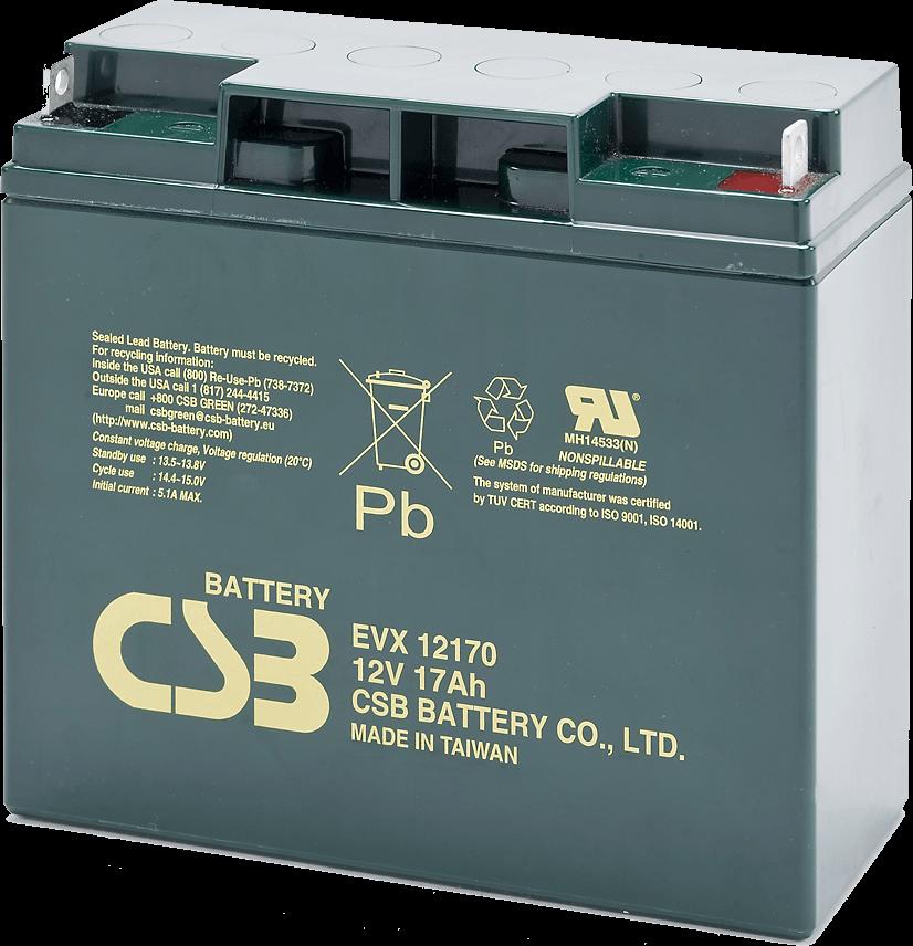 An image of CSB EVX 12170 b1 17ah 12v Battery