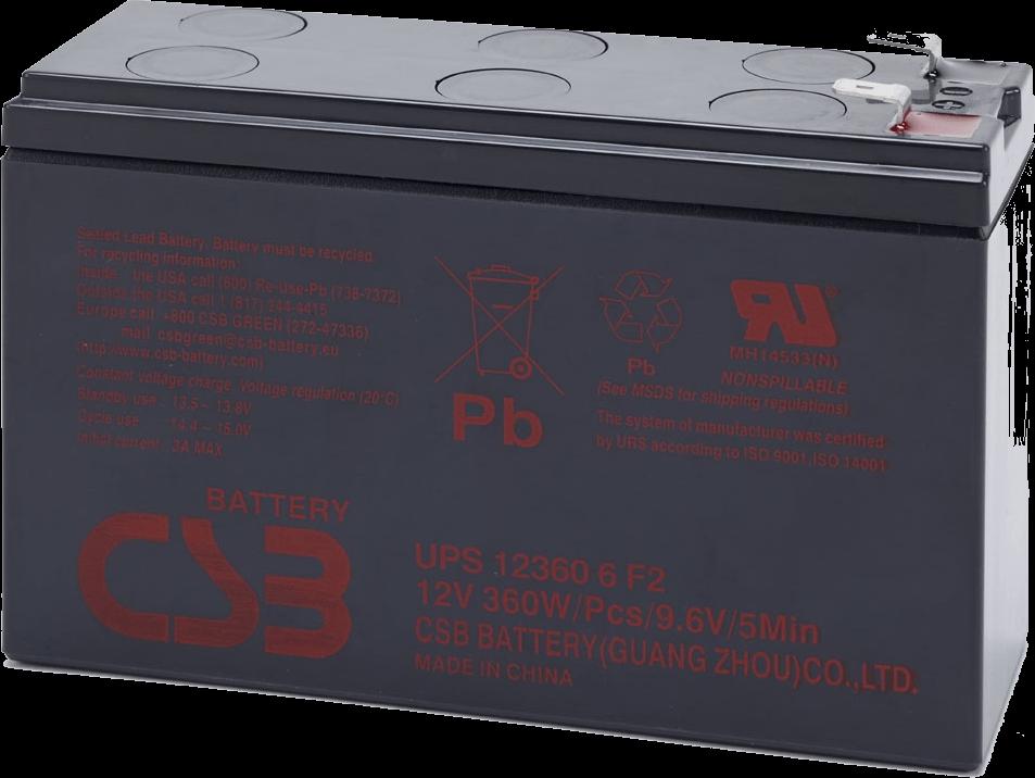 An image of CSB UPS123606 7.5ah 12v Battery