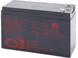 An image of CSB GP1272 F2 12V 7.2Ah Lead Acid Battery