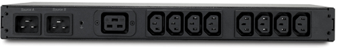 An image of APC Rack ats 16a/230v, c20 in, (8) c13 (1) c19