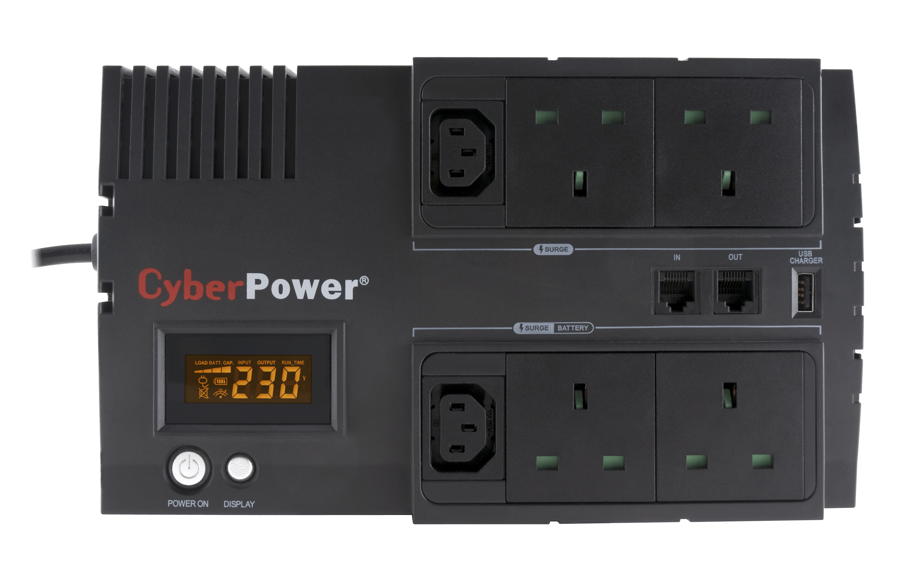 An image of CyberPower BricLCD 700VA Line Interactive 230V (UPS) (UK)