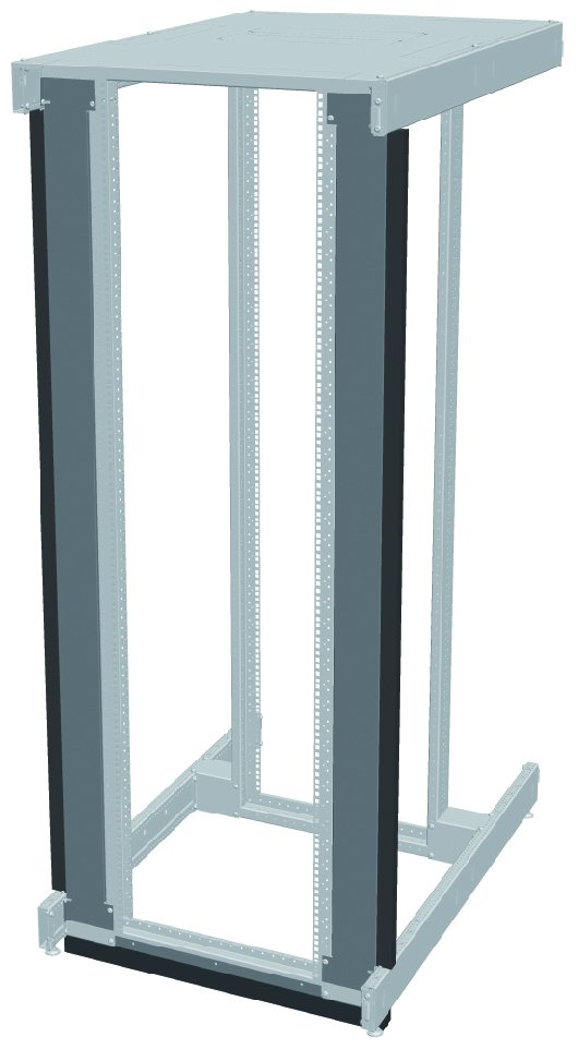 An image of Vertiv knürr inr server/network rack air partitioning closed 47 u, for easy ret...