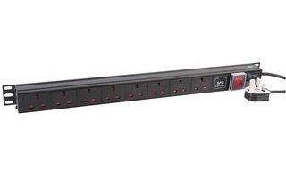 An image of Dynamode pdu-8ws-v-sp-1u power distribution unit (pdu) black 8 ac outlet(s)