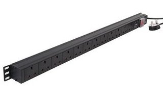 An image of Dynamode PDU-12ws-v-sp-1u power distribution unit (PDU) black 12 ac outlet(s)