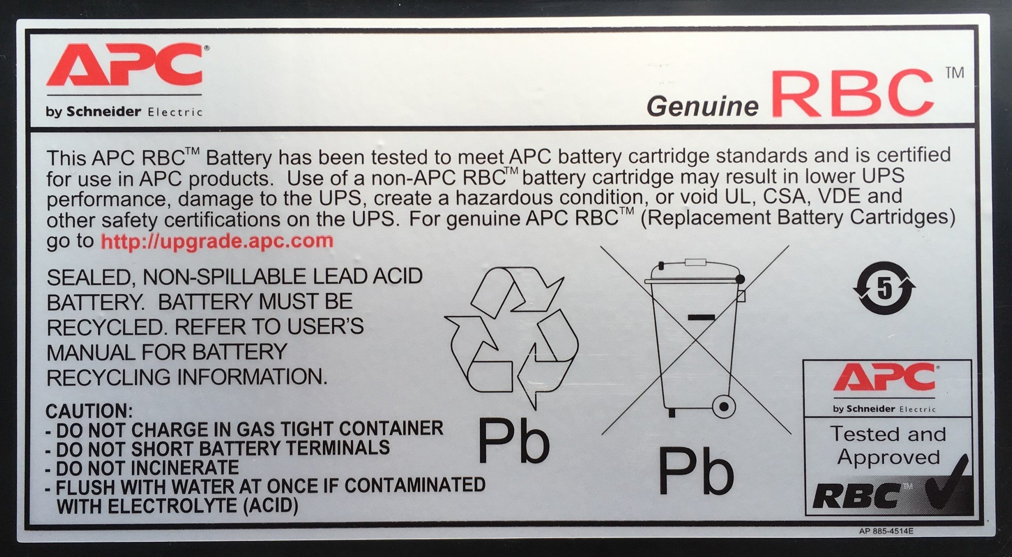 An image of APC rbc13 rechargeable battery sealed lead acid (vrla)