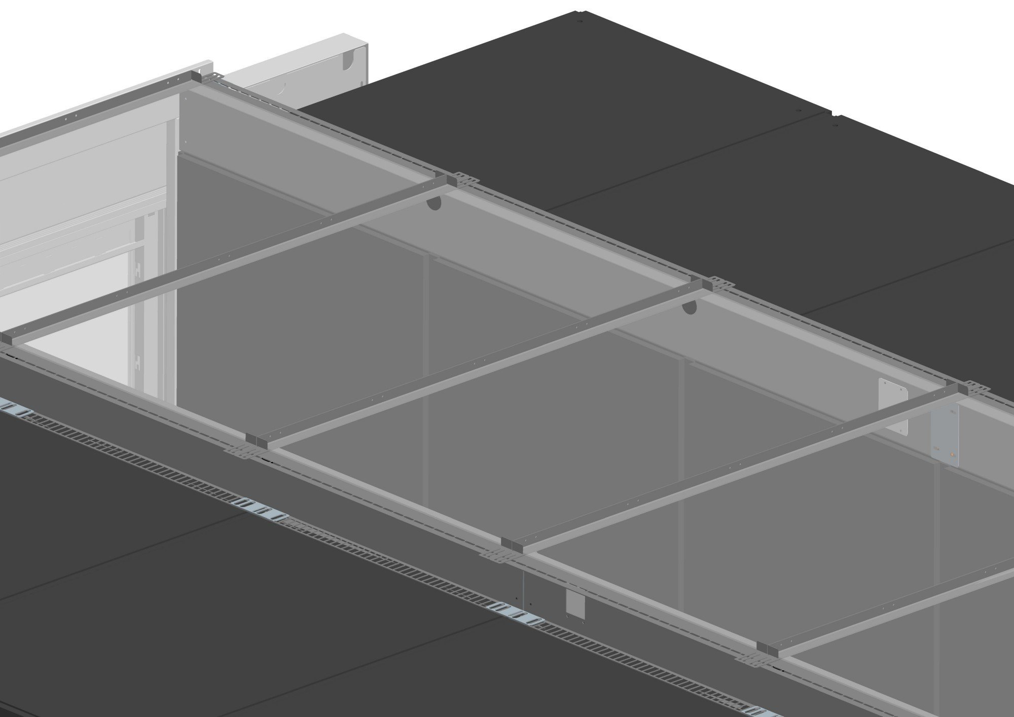 An image of Vertiv knürr Dcc containment roof element, for aisle width 1200mm, for rack wid...