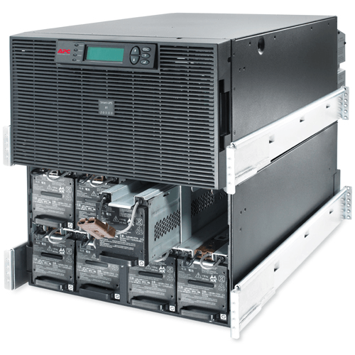 apc smart ups rt 20kva rm 230v surt20krmxli critical power supplies apc surt20krmxli battery tray exposed fr