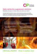 Critical Power Supplies - Data Centre Fire Suppression