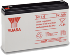 Critical Power Supplies - Yuasa NP7-6 7ah 6volt sealed lead acid b